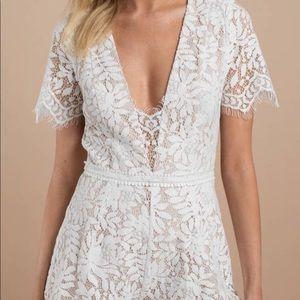 Tobi White Lace Romper